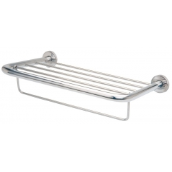 Rack porte serviette 4 points avec barre inox poli