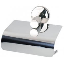 Porte-rouleau double avec couvercle inox poli
