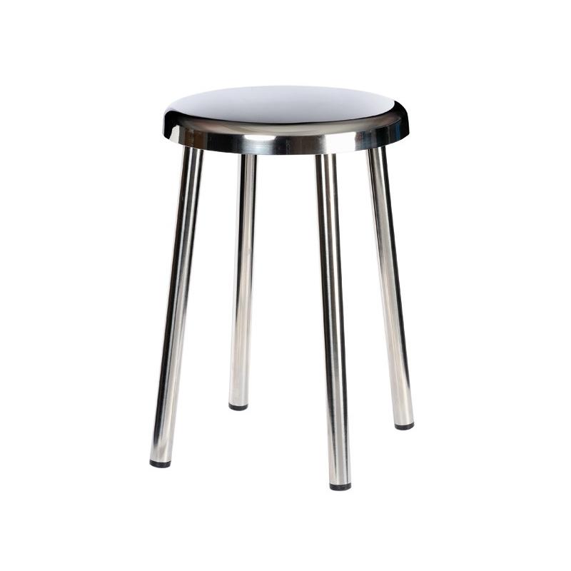 equipement salle de bain tabouret 4 pieds acier inoxydable. Black Bedroom Furniture Sets. Home Design Ideas