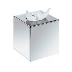 Distributeur à Mouchoirs gris métallisé carré - kams.fr